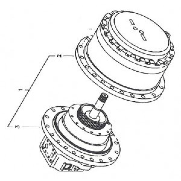 Caterpillar 262B 1-Spd Reman Hydraulic Final Drive Motor #1 image