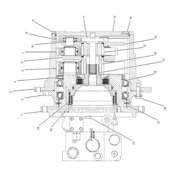 Caterpillar 136-2847 Hydraulic Final Drive Motor #1 image